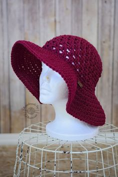 2797950c Crochet projects: Crochet Sun Hat Pattern Más Crochet Summer Hats ...
