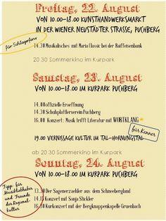 4. Puchberger Kunststraße Programm Recital, Literature, Cinema Movie Theater, Music