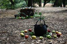 apple circle around the magic cauldron
