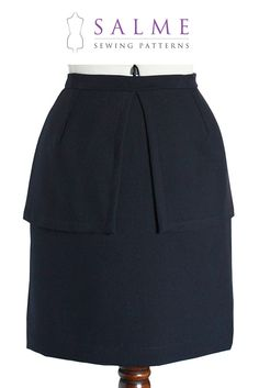 Digital Sewing Pattern - Peplum Skirt