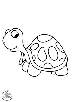 Turtle with Long Neck Zoo Animal Coloring Pages, Colouring Pages, Cross Stitch Embroidery, Hand Embroidery, Embroidery Designs, Cartoon Drawings, Easy Drawings, Nursery Drawings, Drawing Lessons For Kids