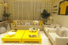 salas de estar amarelas - Pesquisa Google