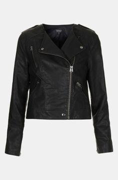 Topshop 'Mirabelle' Faux Leather Biker Jacket | Nordstrom