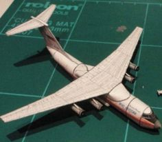 Ilyushin Il-76 Military Transport Aircraft Paper Model Free Template Download