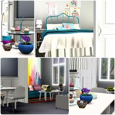 Urban Living 2.0 by Simberry / Bedroom and Dining / Download Sims 3 Free Sims, Sims 3, Different Styles, Apartments, Gaming, Urban, Bedroom, House, Home Decor