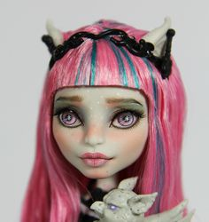 OOAK Custom Monster High Repaint * ROCHELLE GOYLE * by Freddy Tan | eBay