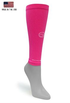 Solid bright pink compression sleeve, sold as a pair  #crazycompression #crazyclan www.crazycompression.com