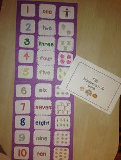 This fall themed package contains a 10 page reader and a cut and paste activity to help students learn their numbers, number words, and one-to-one correspondence.