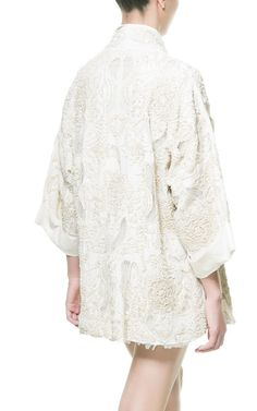 EMBROIDERED AND BEADED KIMONO with jeans and tee!