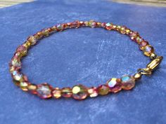 A personal favorite from my Etsy shop https://www.etsy.com/listing/246239545/orange-and-yellow-beaded-anklet