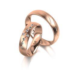 MEISTER Wedding-Ring PHANTASTICS Twinset 95 - wedding-rings redgold | MEISTER