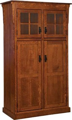 Heritage Mission Four Door Pantry Custom Built By Fine Amish Furniture  Craftsmen And Offered By Weaver Furniture Sales A Northern Indiana Furniture  Company.