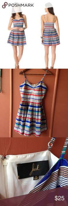 Jack. by BB Dakota dress Stripped dress worn only once in excellent condition runs more like a 6. ❌NO TRADES ❌NO TRY ON Jack by BB Dakota Dresses