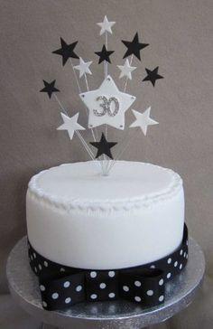Karen's Cake Toppers Décoration de gâteau d'anniversaire 30ans Pour petit gâteau ou cupcake Motif étoiles Blanc/noir Karen's Cake Toppers http://www.amazon.fr/dp/B00J1KMCWO/ref=cm_sw_r_pi_dp_rxBVvb16M446C