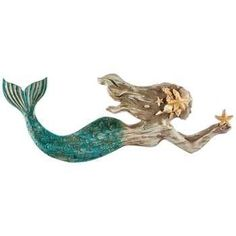 One Mermaid was not enough for my wall, so I added this one to the opposite side of the room!