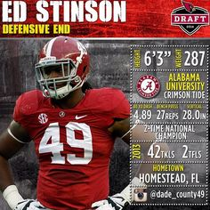 A look at DE Ed Stinson, our 5th round selection from Alabama. For more on #CardsDraft, visit #AZCardinals.com/draft