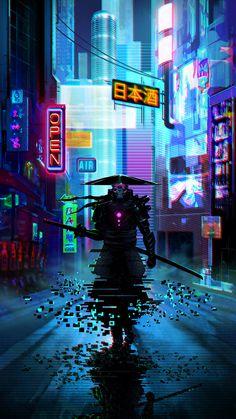 Home Discover Wallpaper Cyberpunk City Cyberpunk Kunst Cyberpunk Aesthetic Futuristic Samurai Futuristic Art High Fantasy Fantasy Art Ninja Kunst Samurai Wallpaper Cyberpunk City, Ville Cyberpunk, Cyberpunk Kunst, Cyberpunk Aesthetic, Cyberpunk Fashion, Cyberpunk 2077, Cyberpunk Tattoo, Cyberpunk Anime, Cyberpunk Games