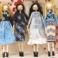 Sarah Strachan is a wonderful doll maker.  You can recognise her distinct style but her girls are always so well dressed.
