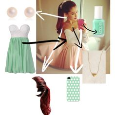 """Ariana Grande Inspired Outfit"" by abigail-gildersleeve on Polyvore"