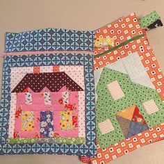 Here's a fun gift idea:) These Quilty Zip Pockets were made by my peep @judysue56 for her grandkids. For the boys she used Old Red Barn block and will fill them with farm animals and a little tractor....for her granddaughter she used the Farmhouse block and will put Barbie things inside:) Fun!!! ❤️ #beeinmybonnet #farmgirlvintage #QuiltyZipPocket #farmhouseblock #oldredbarnblock