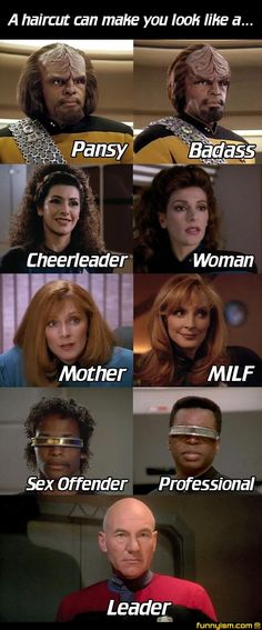 Hair styles of Star Trek: The Next Generation
