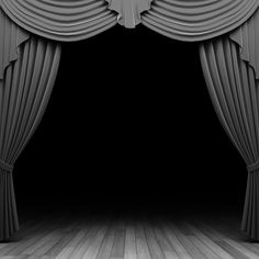 Silver Theater Frames Ppt Backgrounds