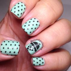 Ice Cream Nails | Mint Chocolate Chip | Stamped Nails | Essie | MoYou London