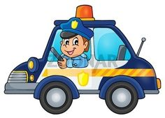 Police car theme image 1 - picture illustration.