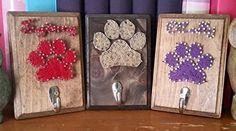Pawprint Leash Holder, String Art Sign, Made to Order