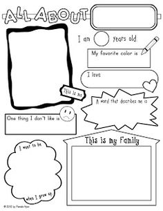 All About Me... I have the boys fill one out to give to their new teachers on Meet the Teacher Night.