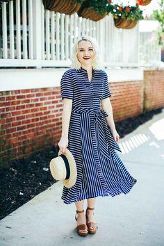 Stripe Dress - Poor Little It Girl