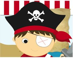 Pin the Patch on the Pirate party game - free printable
