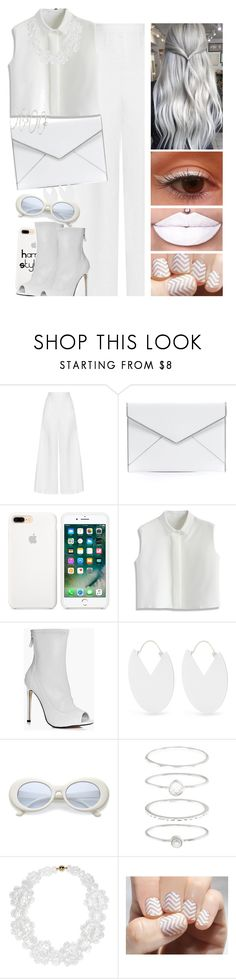 """""""Drugs"""" by itsatra ❤ liked on Polyvore featuring Miguelina, Rebecca Minkoff, Chicwish, Boohoo, Isabel Marant, Accessorize, Simone Rocha, SoGloss, harrystyles and white"""