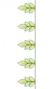 8740 Chain Stitch Lace Embroidery Design