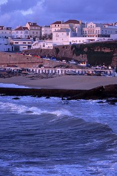 dusk at the fishing harbor, Ericeira, Portugal