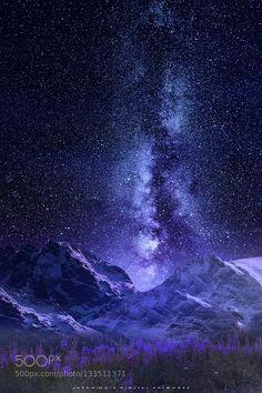 """Night Sky by Jasna Matz """" Beautiful Sky, Beautiful Landscapes, Beautiful World, Night Sky Wallpaper, Galaxy Wallpaper, Nature Pictures, Beautiful Pictures, Landscape Photography, Nature Photography"""