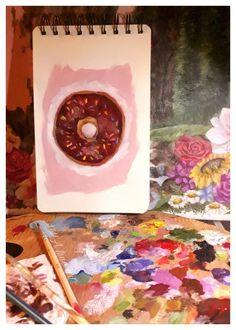 Art Challenge, 100th Day, Fine Art, Painting, Instagram, Painting Art, Paintings, Painted Canvas, Drawings