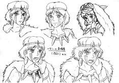 cartoon tattoos for men character design Studio Ghibli Poster, Studio Ghibli Films, Art Studio Ghibli, Studio Ghibli Characters, Princess Mononoke Characters, Princess Mononoke Tattoo, Hayao Miyazaki, Character Model Sheet, Character Design