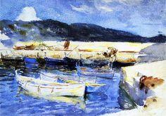 Boats II by John Singer Sargent - #art