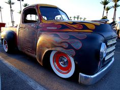 :) great mix of paint and rust on this rat rod