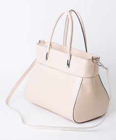 Bianco Arc Leather Satchel//