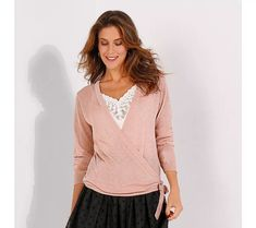 Duhový svetr s překřížením | vyprodej-slevy.cz #vyprodejslevy #vyprodejslecycz #vyprodejslevy_cz #sweater #svetr #pulover #pulovr Blouse, Long Sleeve, Lace, Sleeves, Women, Fashion, Blouse Band, Moda, Full Sleeves