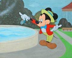 Original Walt Disney Production Cel on custom background from The Seal Featuring Mickey Mouse 1948