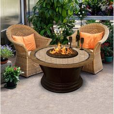 American Fire Products San Simeon Chat Height Round Capistrano Mosaic Top Gas Fire Pit - AFP-SAN-RDCAP-48