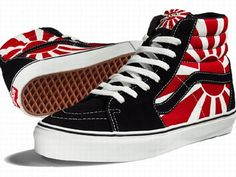 Japan flag shoes