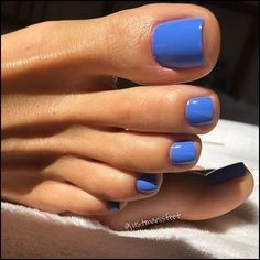 138 most amazing summer nail color 2019 page 48 Nageldesign Manicure Y Pedicure, Gel Nails, Blue Toe Nails, Acrylic Nails, Opi Blue Nail Polish, Shellac Nail Colors, Blue Toes, Coffin Nails, Mani Pedi