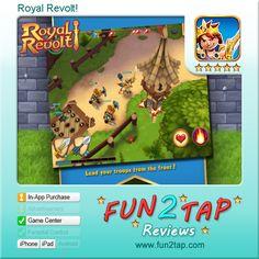 Royal Revolt! -  Full review at: http://fun2tap.com --------------------------------------  #Apps  #Games #iPad #iPhone #Casualgames /index.cfm#id29