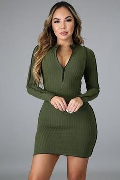6076 GitiOnline Blush Dresses, Stretch Dress, Mock Neck, I Dress, Long Hair Styles, Long Sleeve, Sleeves, Model, Sweaters