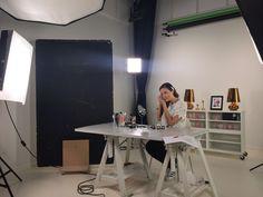 Kuvauspäivä studiolla Nude-blogin Erikan kanssa, mitähän jännää on tulossa? ;)
