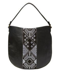 Look at this #zulilyfind! Black Woven Hobo Bag #zulilyfinds